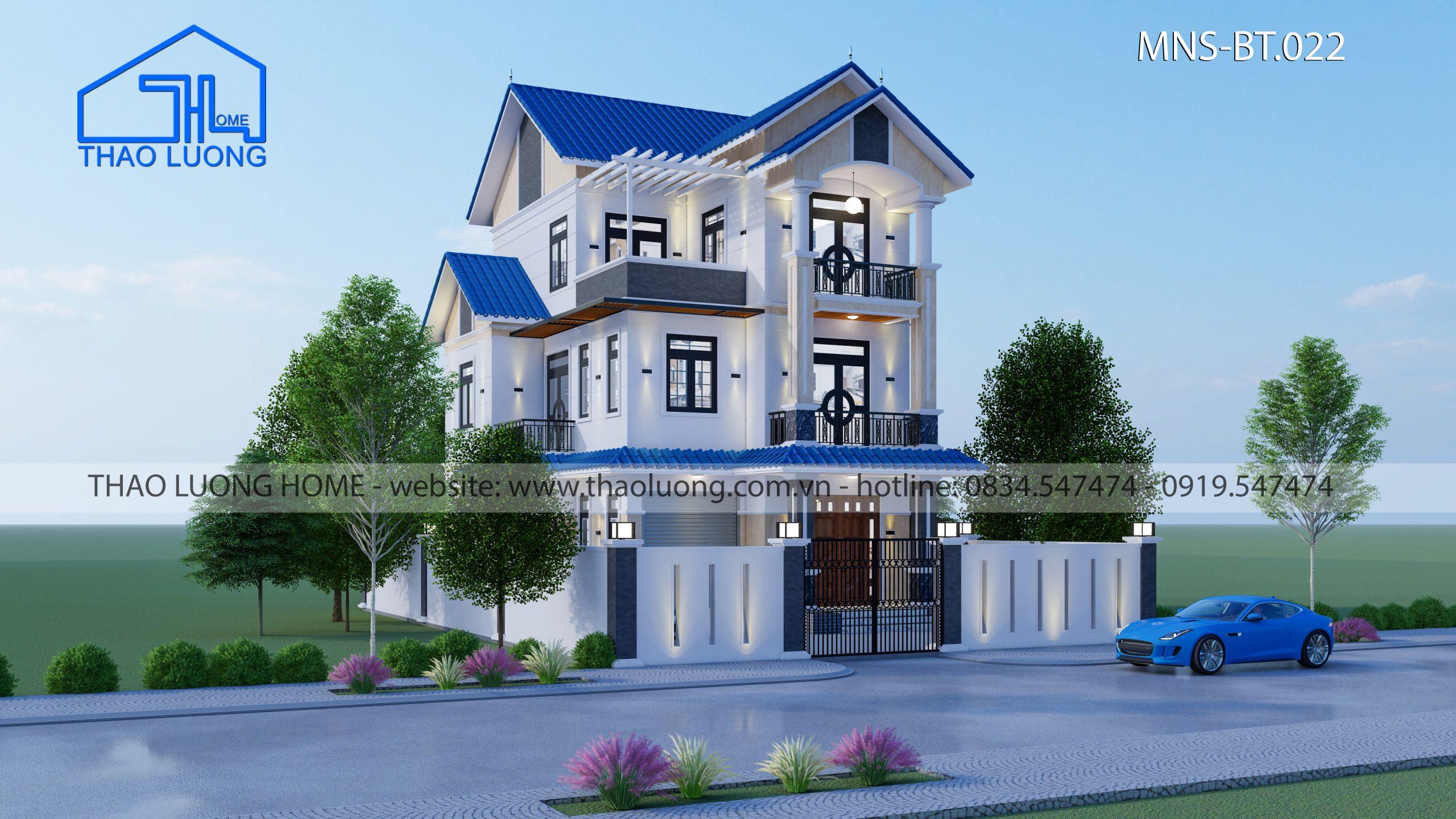 Nhà mái Thái 3 tầng MT 022