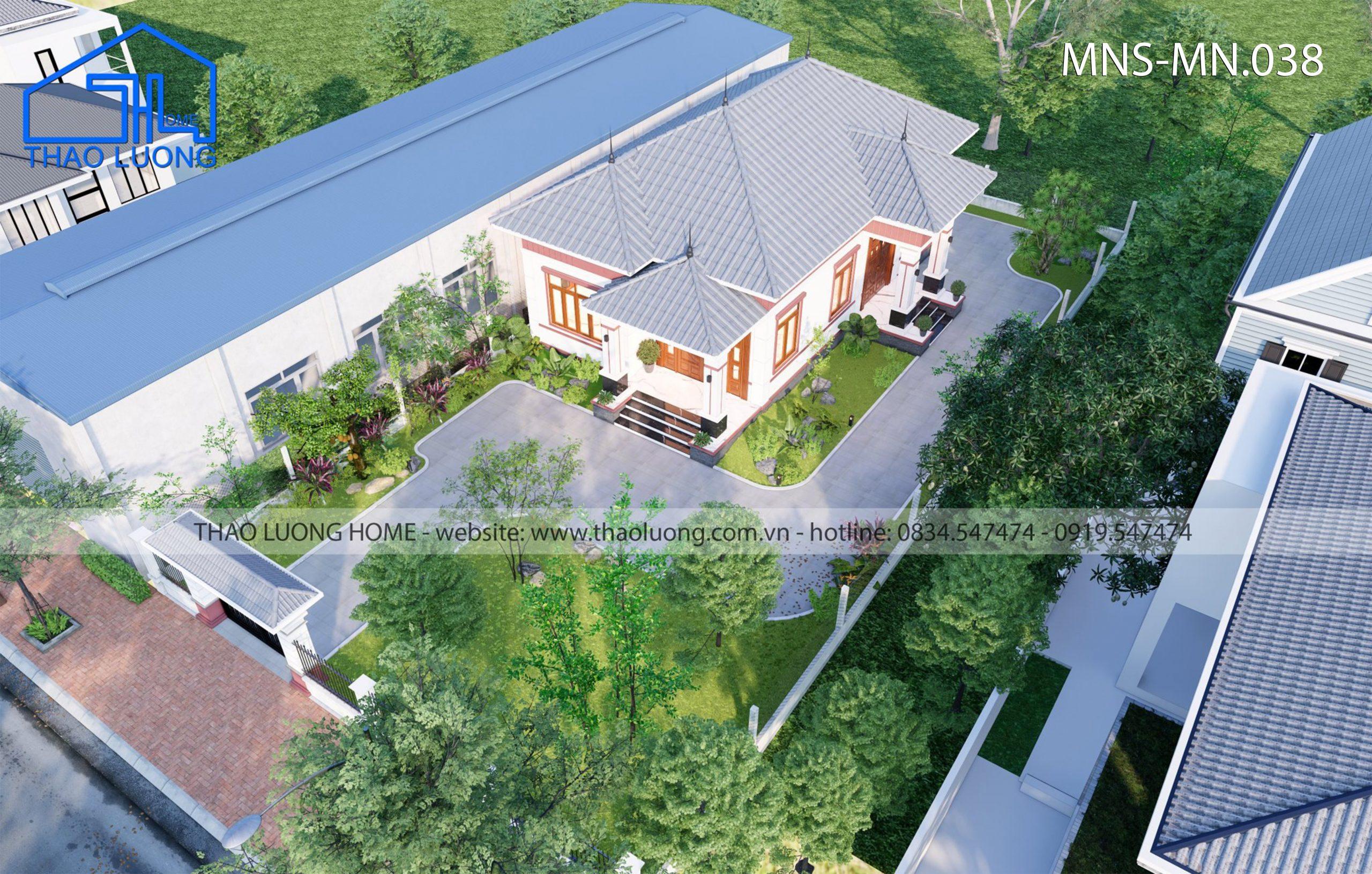 Nhà mái Nhật 1 tầng MN 038