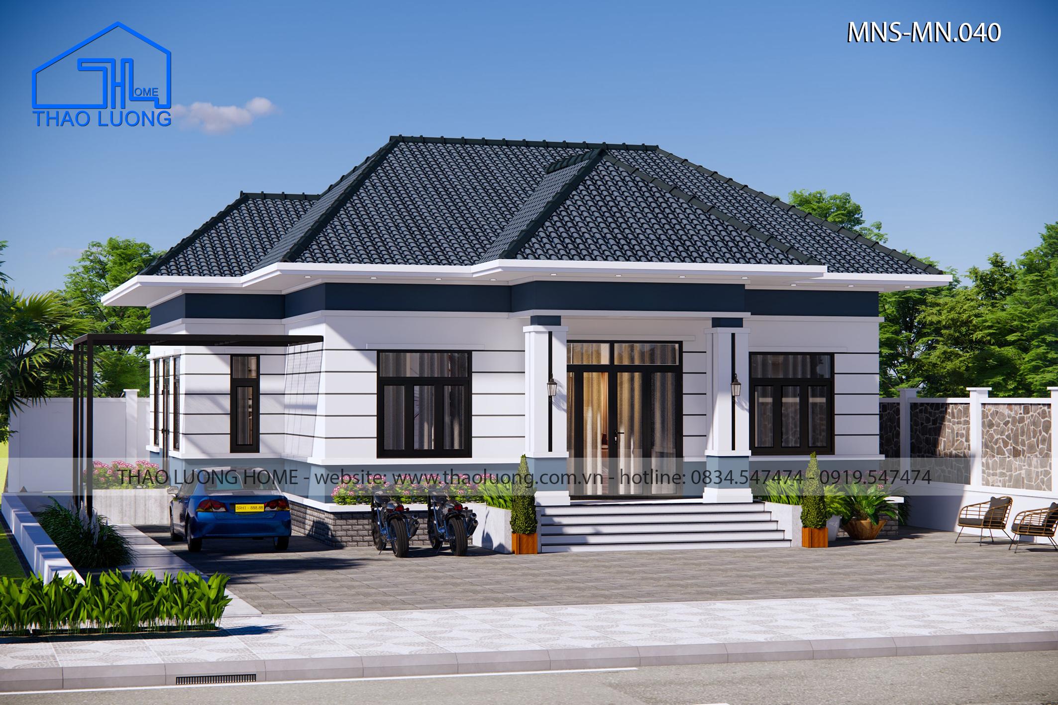 Nhà mái Nhật 1 tầng MN 040