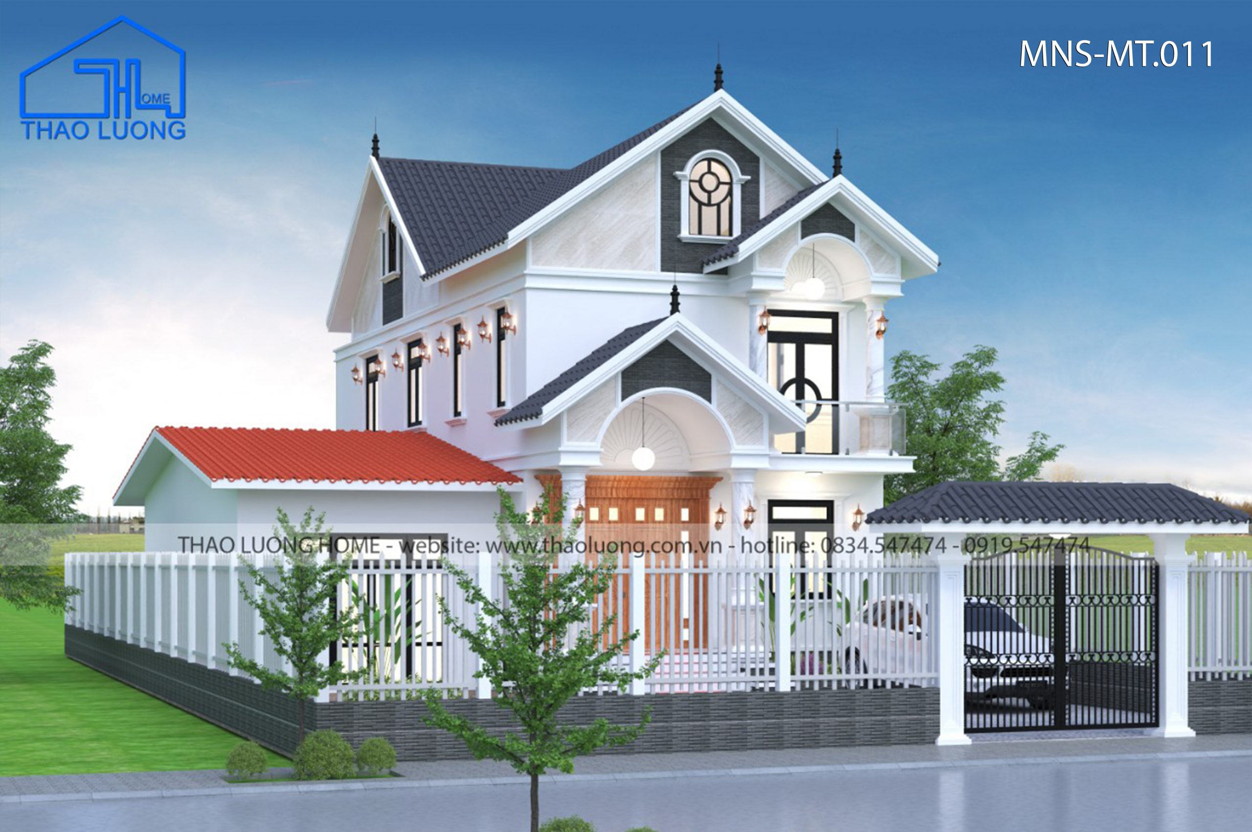 Nhà mái Thái 2 tầng MT 011