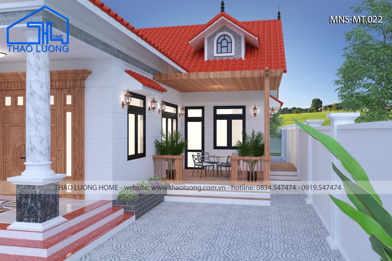 Nhà mái Thái 1 tầng MT 022