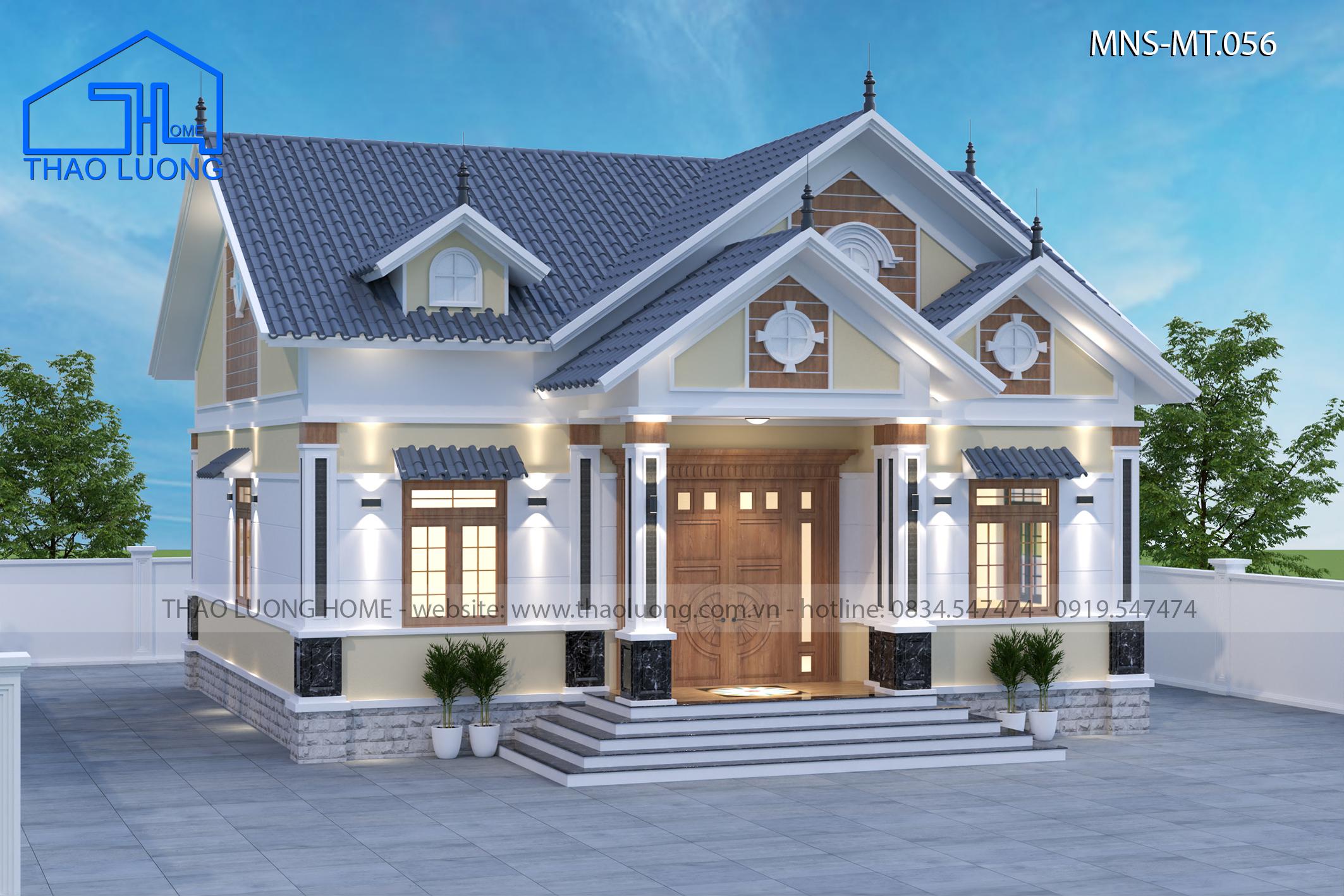 Nhà mái Thái 1 tầng MT 056