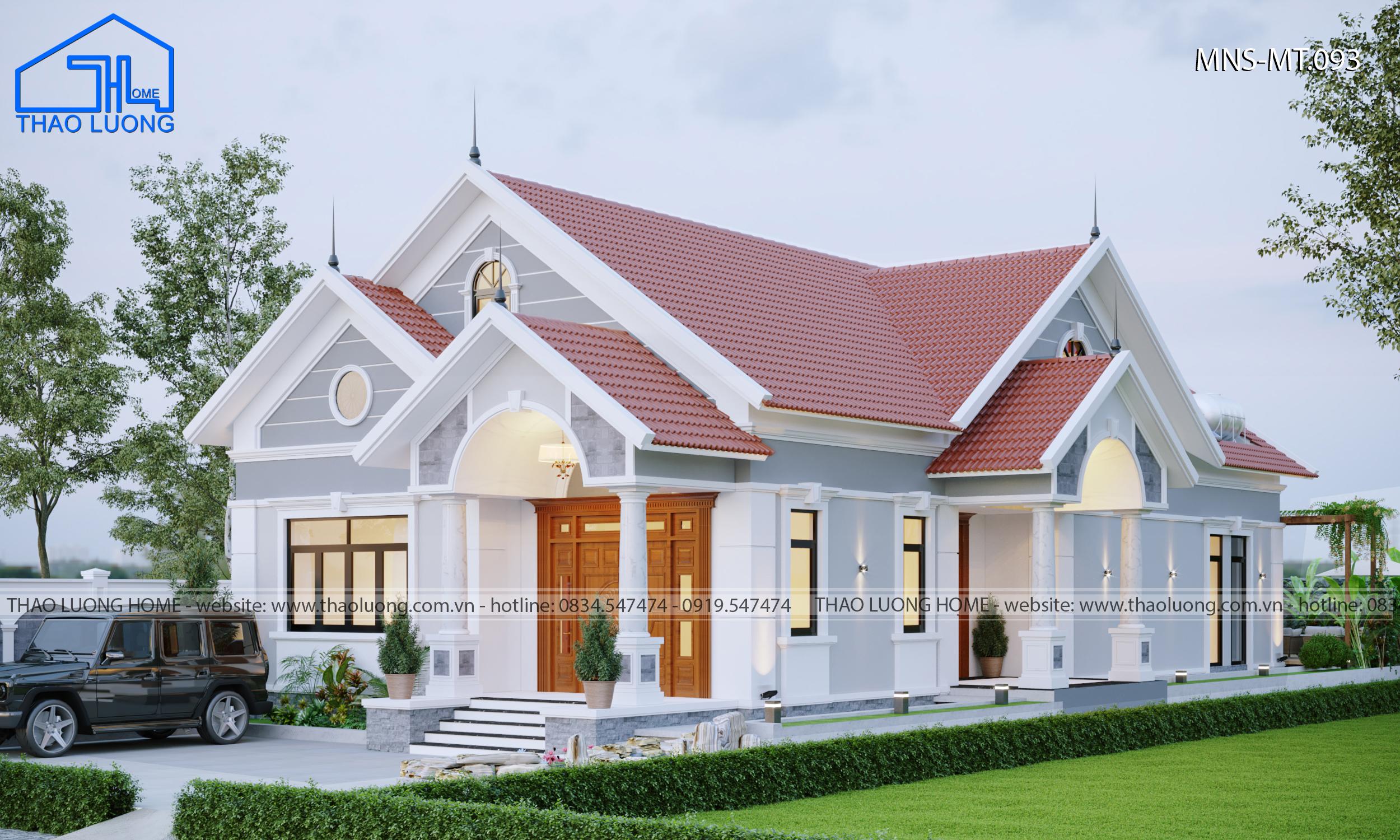 Nhà mái thái cấp 4 - Thảo Lương Home
