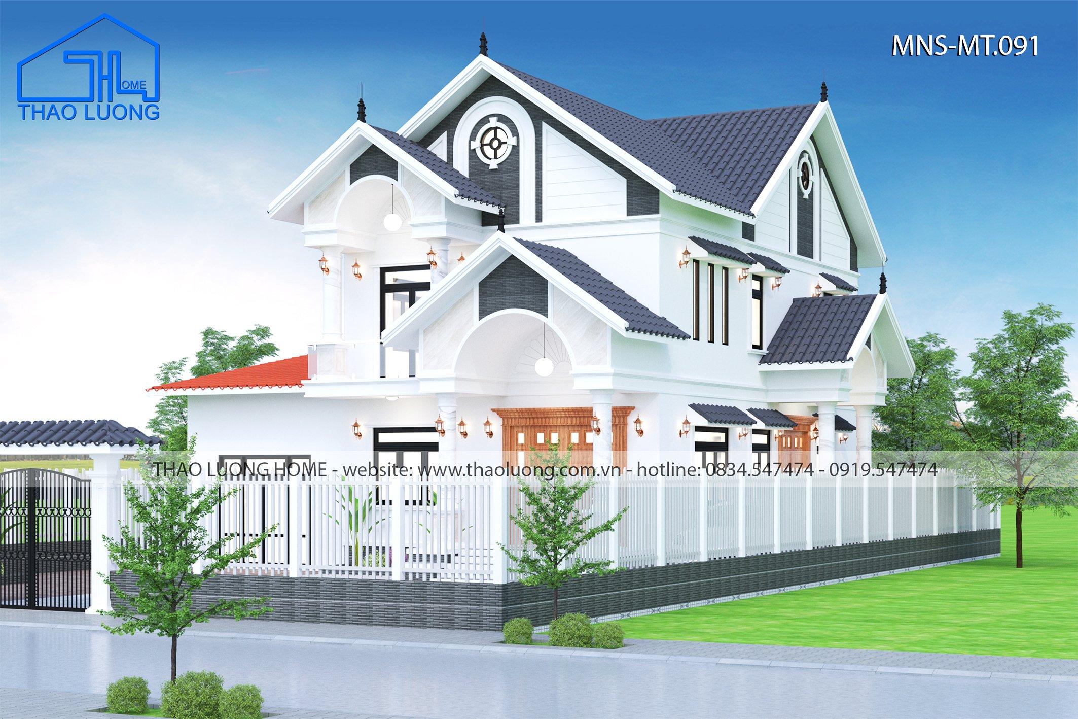 Nhà mái thái 2 tầng - Thảo Lương Home
